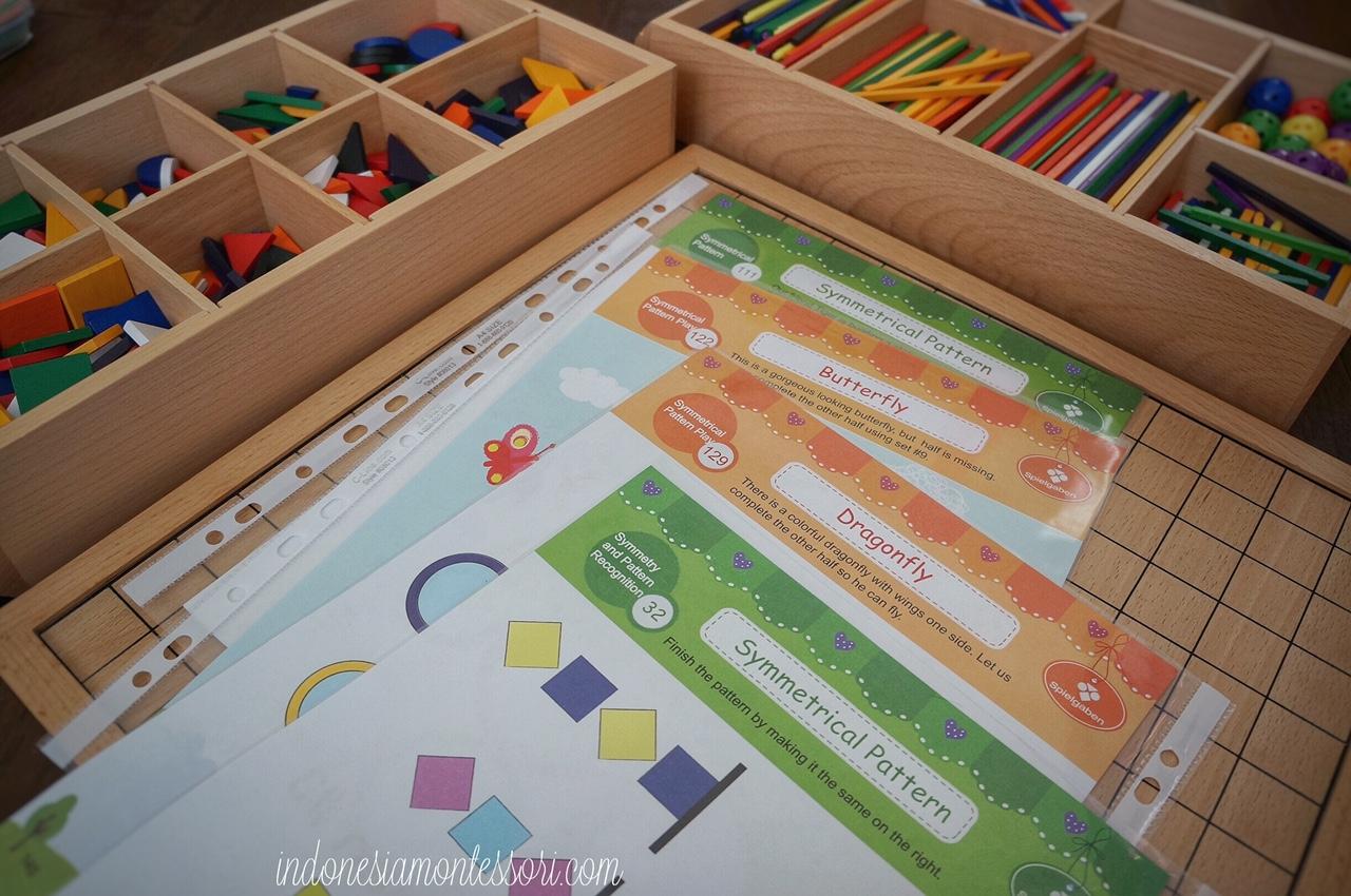 eksplorasi belajar simetri anak prasekolah