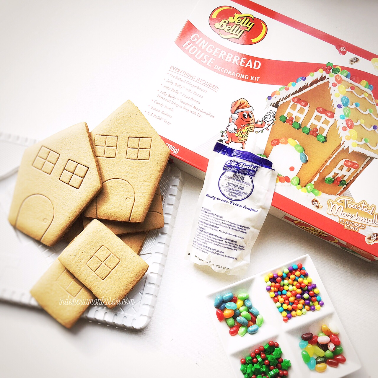 jelly belly gingerbread house kit kegiatan natal