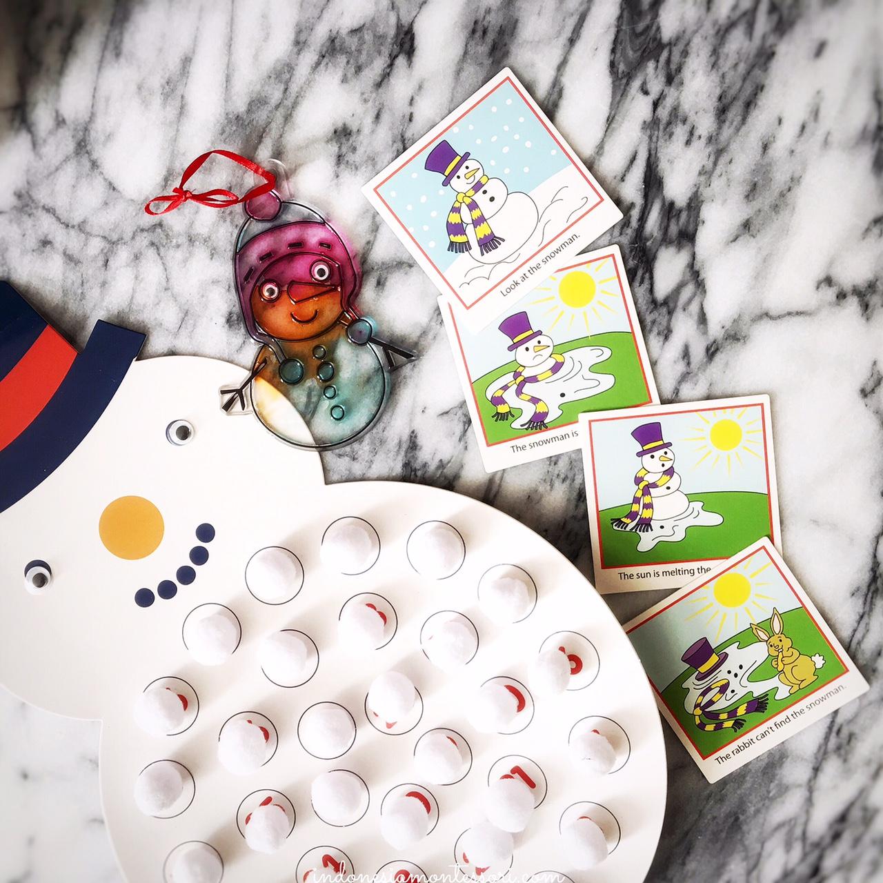 snowman kegiatan prakarya natal anak tk