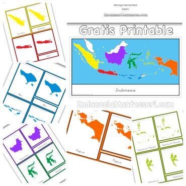 printable montessori pulau indonesia