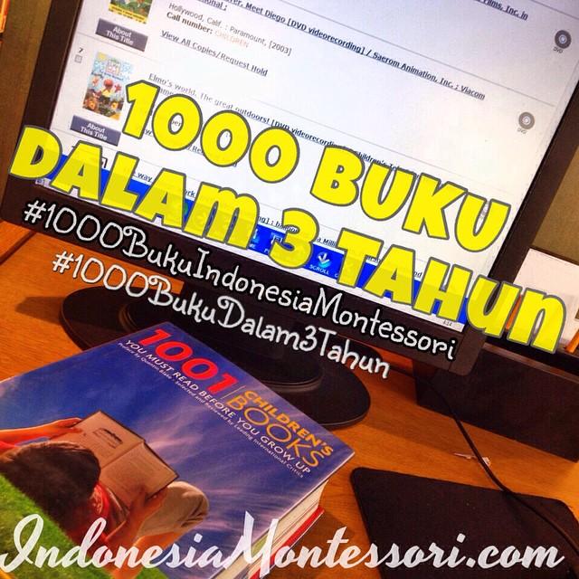 tantangan 1000 buku dalam 3 tahun indonesia montessori challenge
