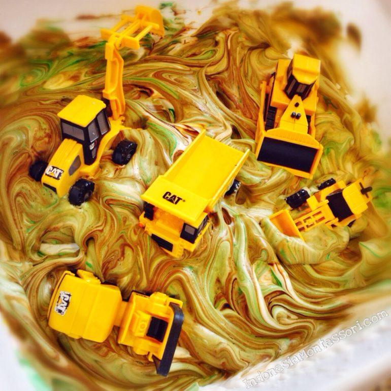 ide main anak sensor play usia dini truk kendaraan berat