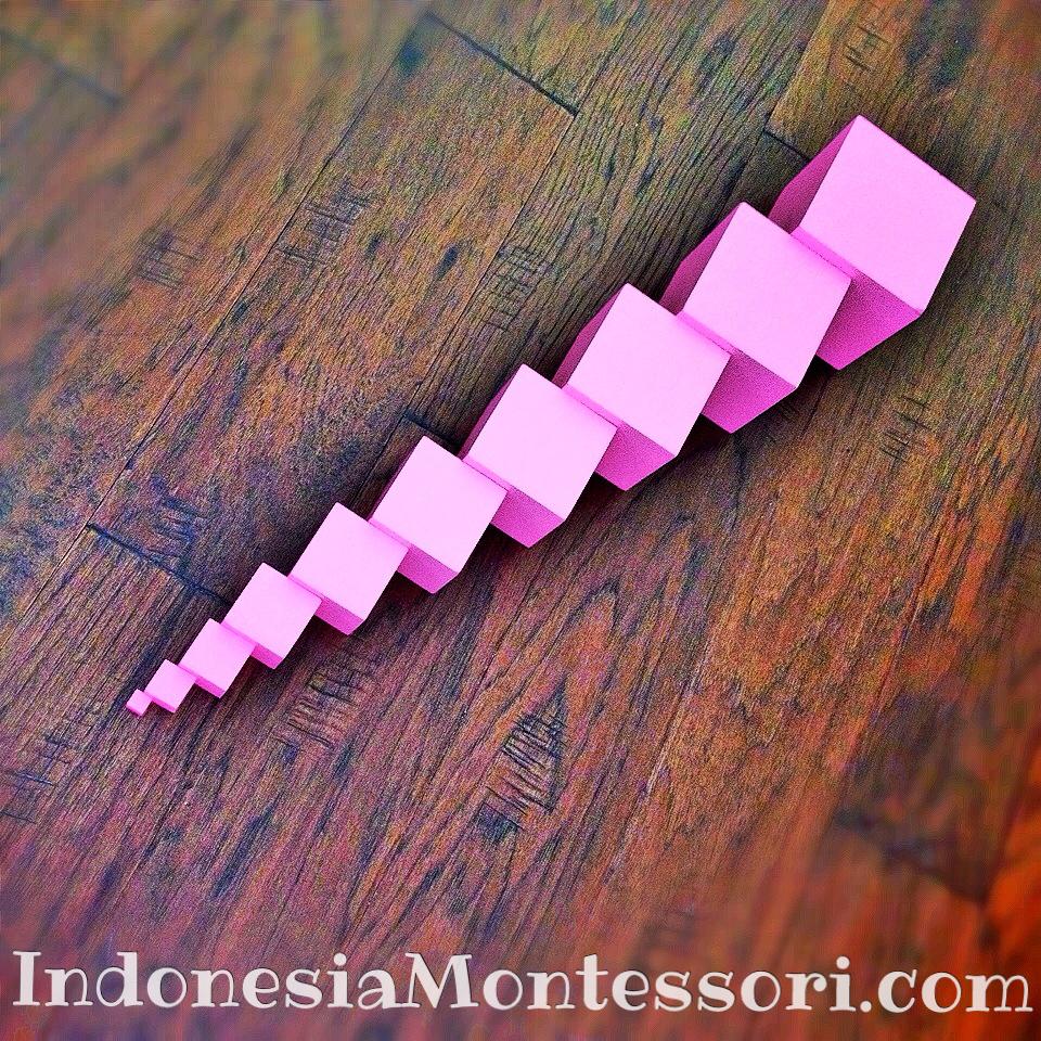 variasi pink tower printable