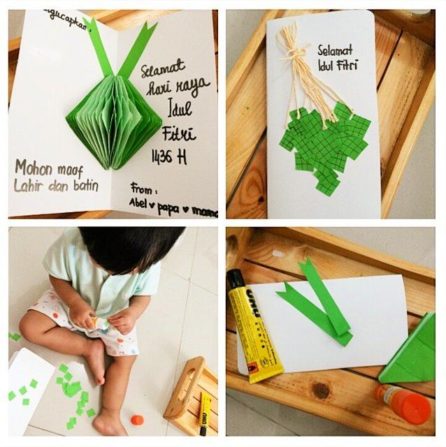 kegiatan prakarya anak prasekolah ramadhan crafts lebaran