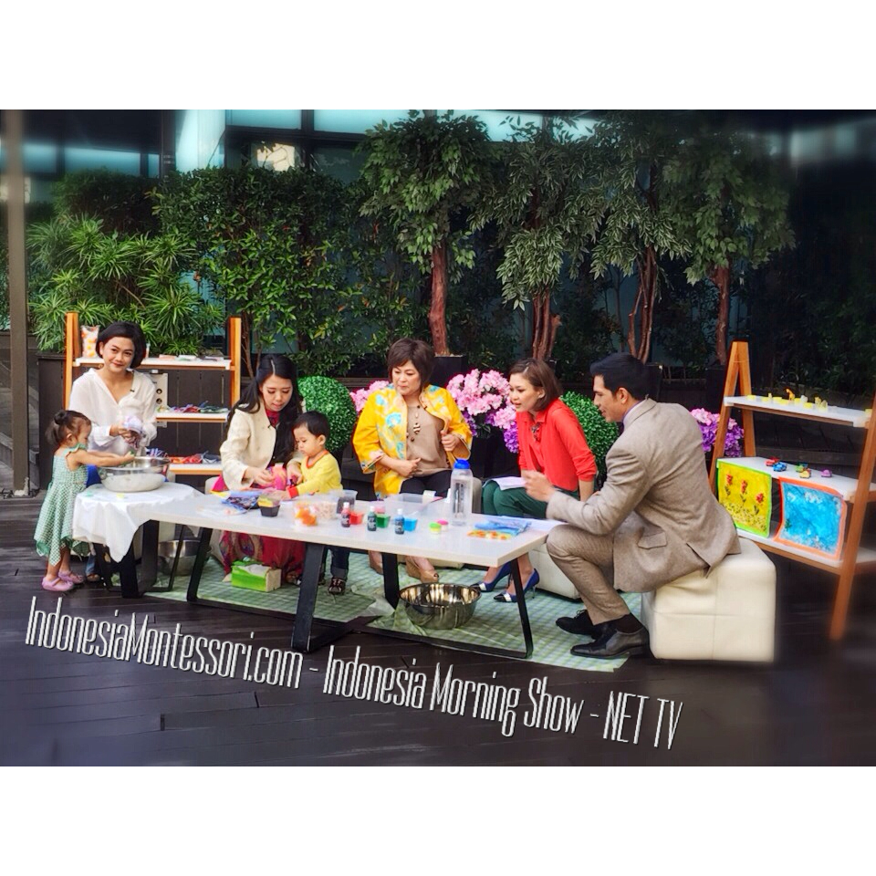 Indonesia Morning Show NET TV Adrian Maulana Marissa Anita DIY TOYS IndonesiaMontessori.com