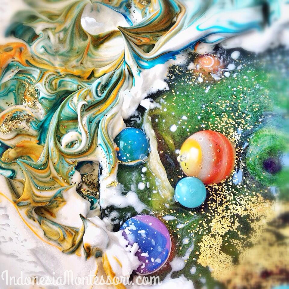 milky way galaxy sensory play