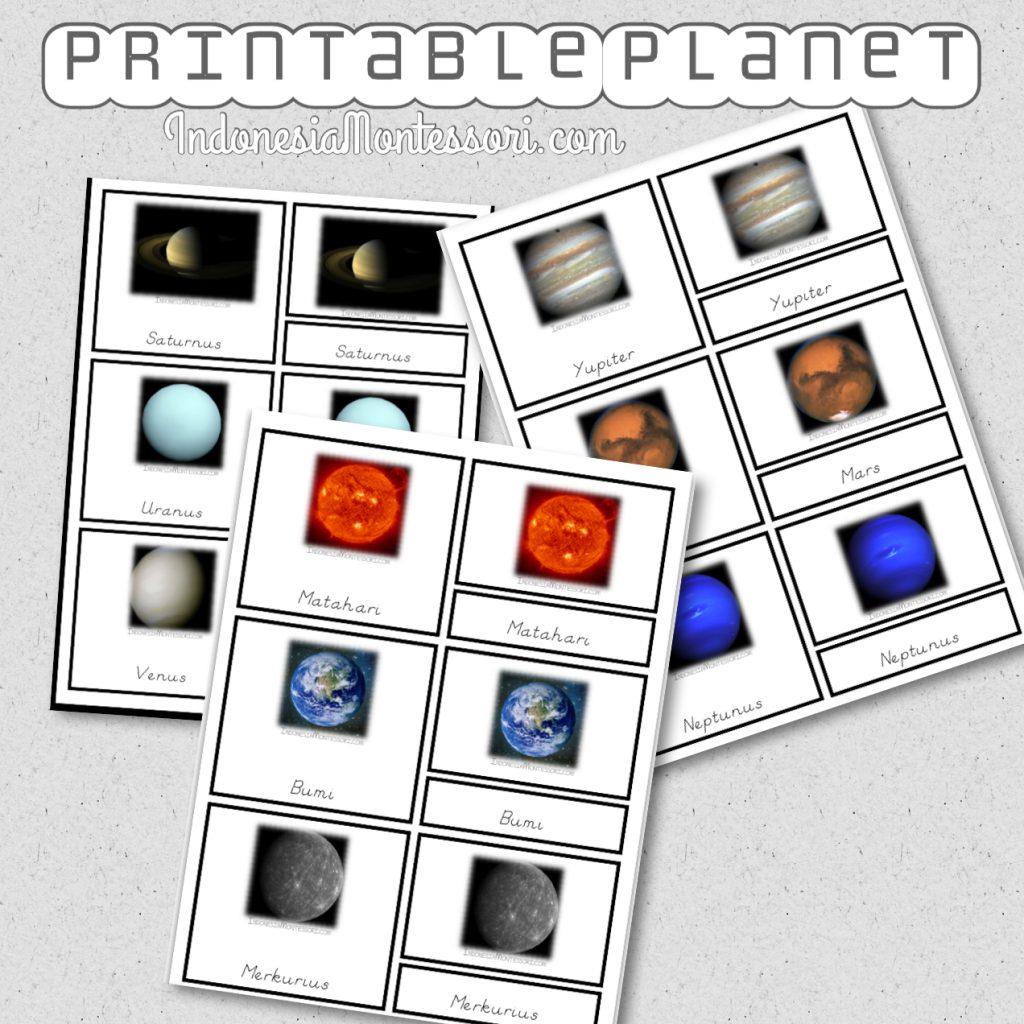 printable gratis homeschool planet tata surya paud