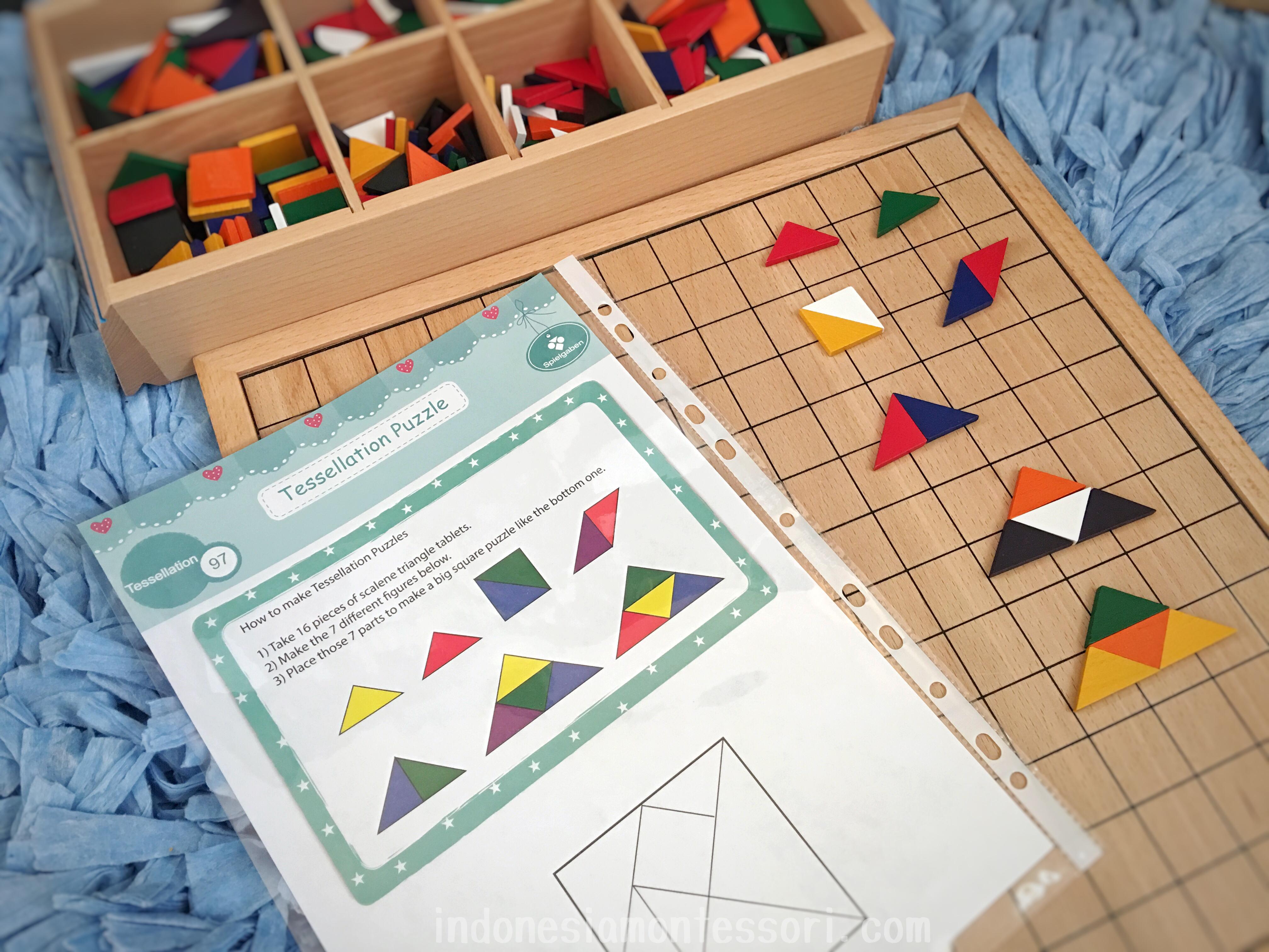 cara membuat DIY tangram bentuk geometri