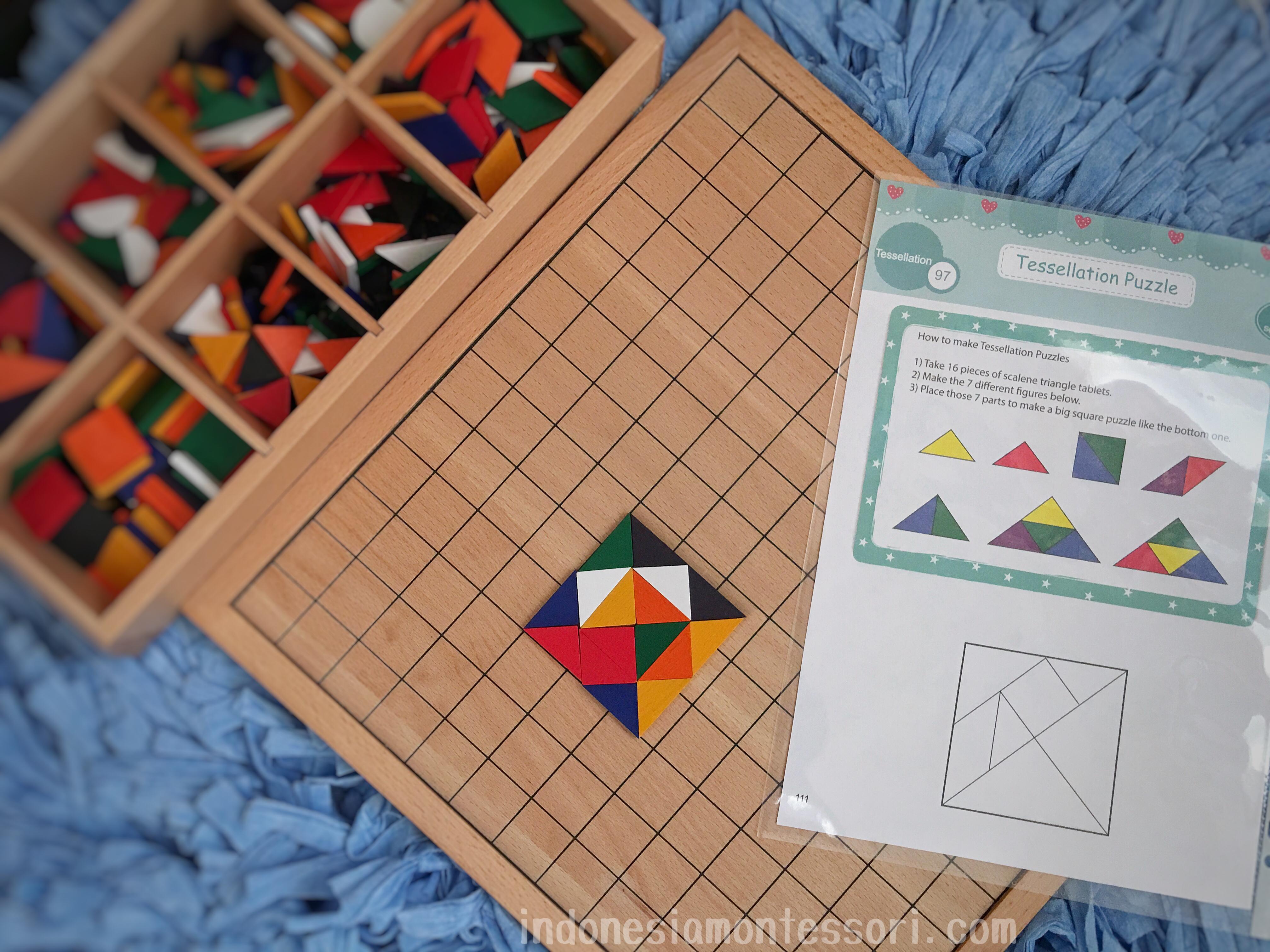 DIY membuat tangram geometri anak usia dini