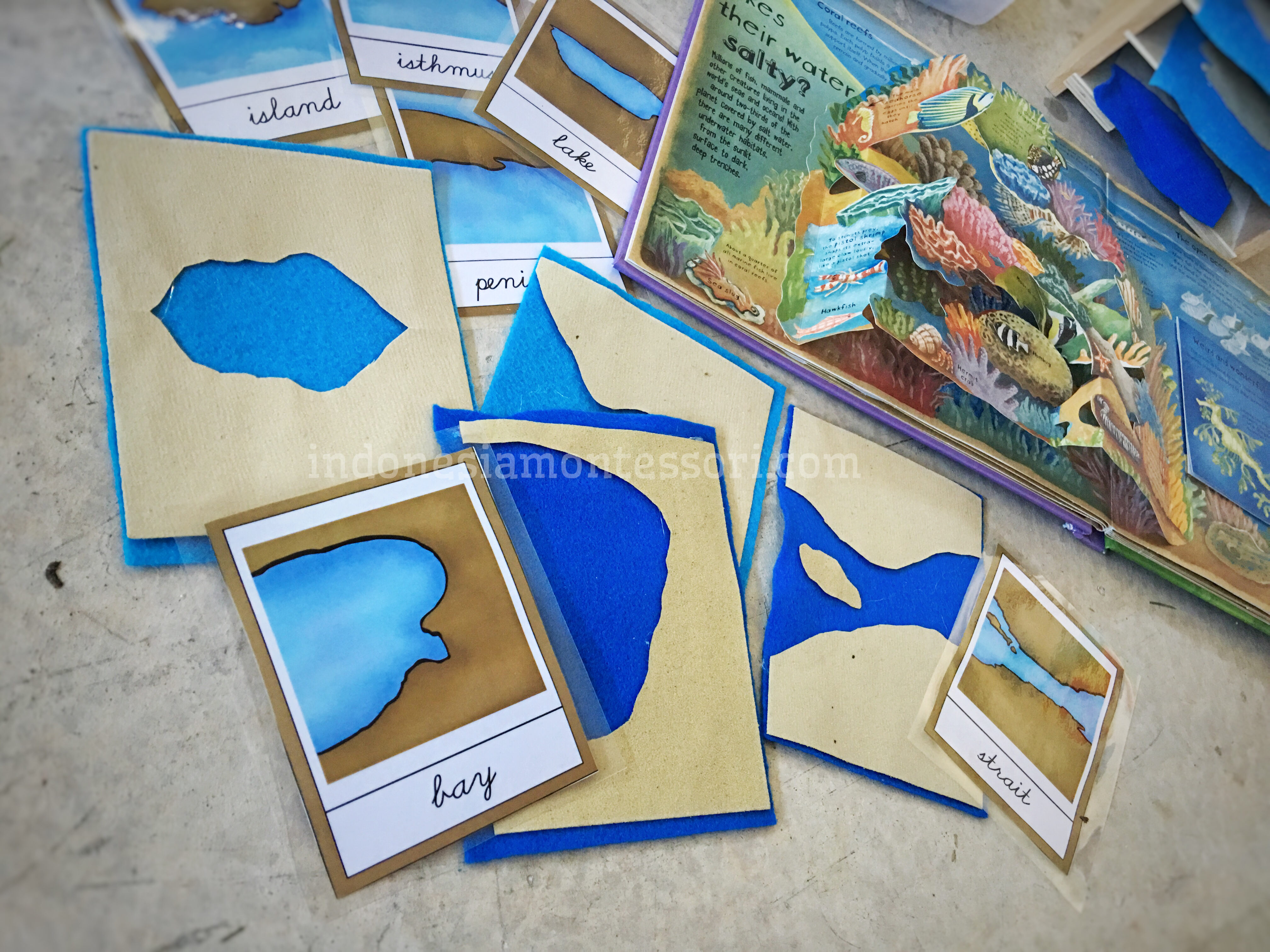 pengenalan darat laut montessori geografi PAUD