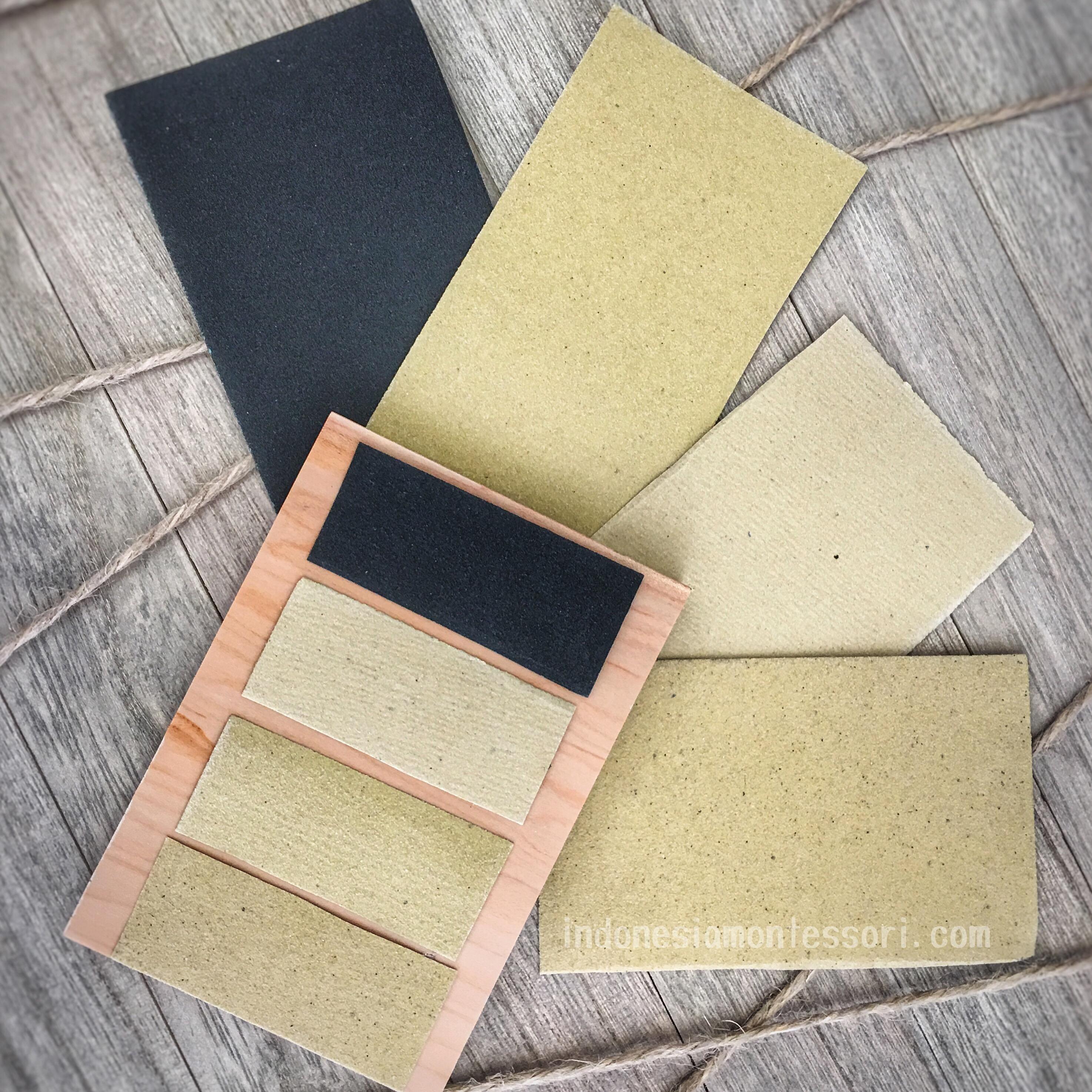 DIY tekstur tablet montessori