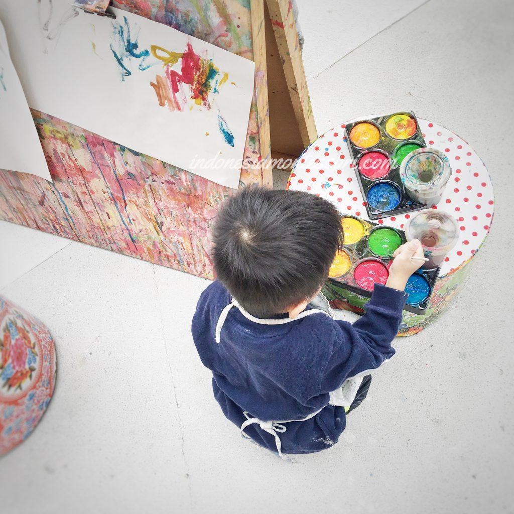 melukis anak prasekolah