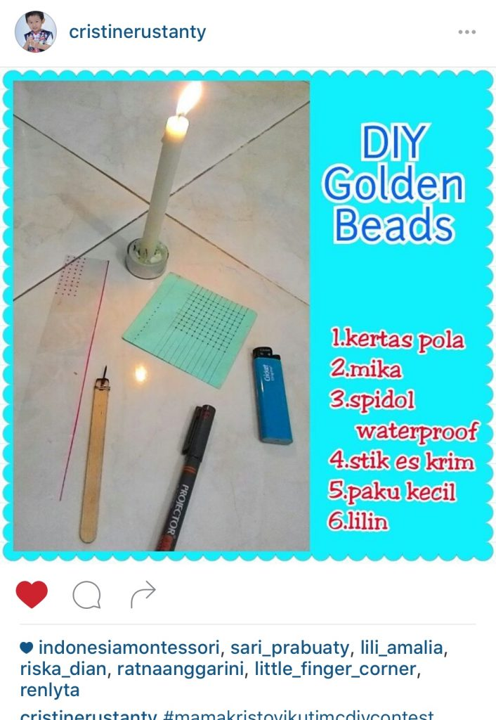 cara buat golden beads montessori