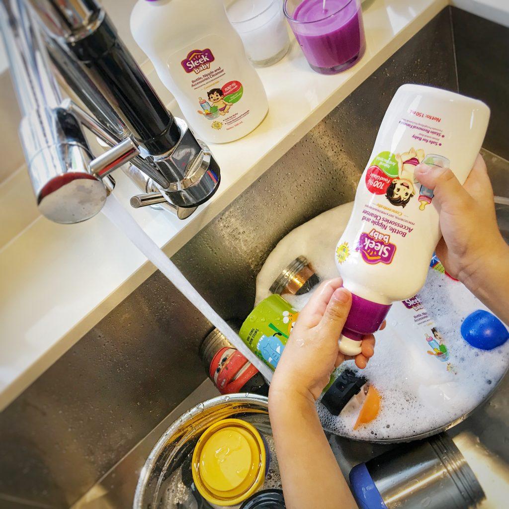 review produk sleek baby nipple cleanser