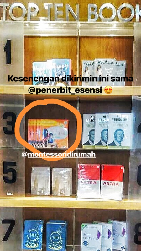 top ten books best seller montessori di rumah