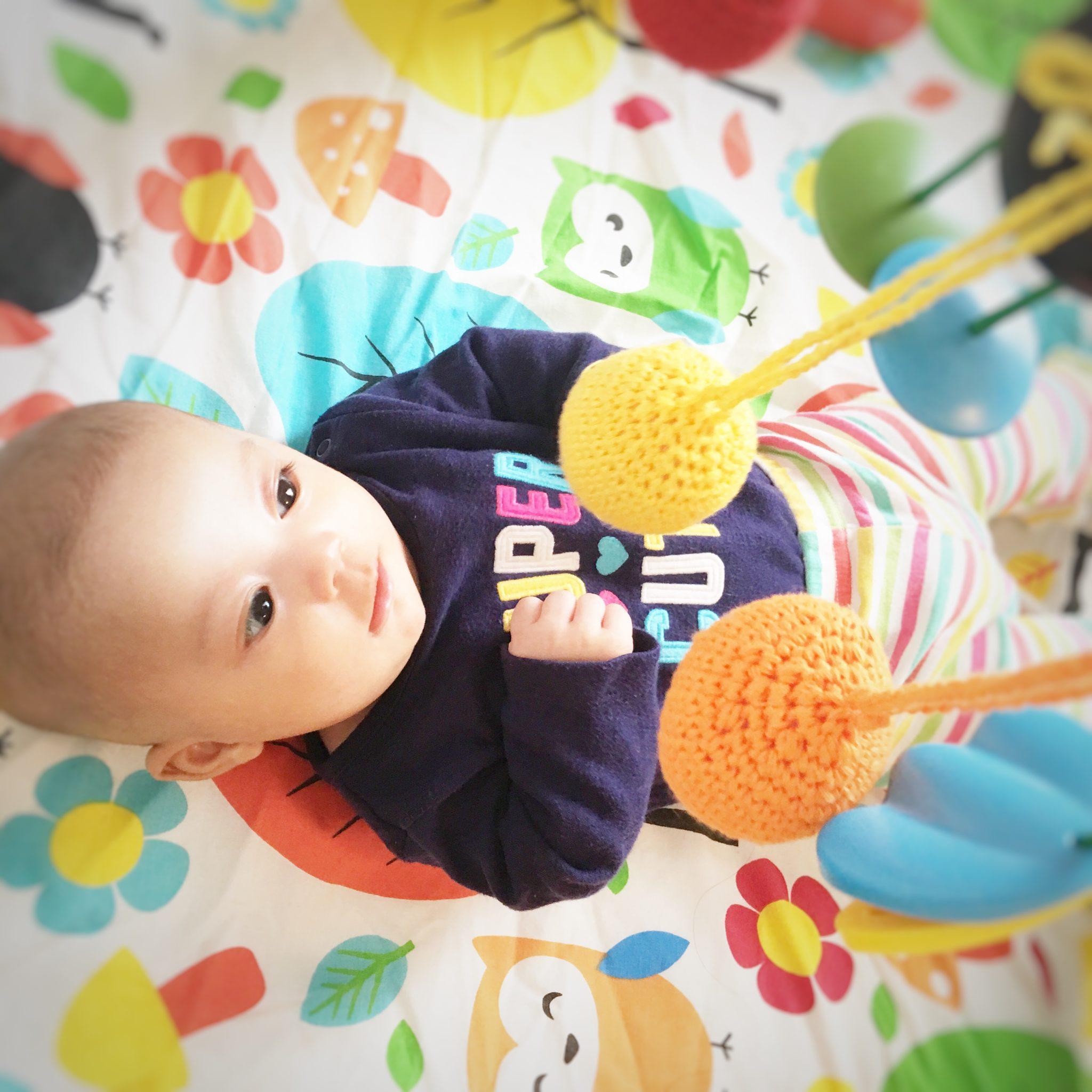 Kegiatan Sensorial Bayi Montessori 1 Mengikuti Gerakan Dengan Mata